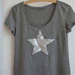 DIY-Idee halbachblog: Anleitung für Shirt mit Sternapplikation