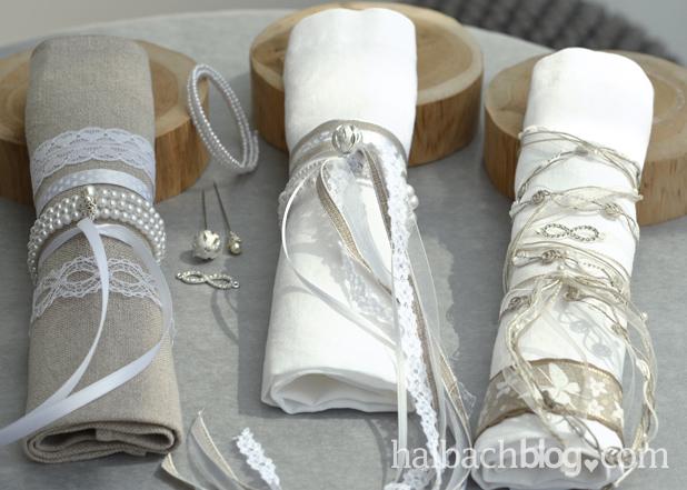 Hübsch gemacht für den Hochzeitstisch