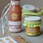 DIY-Idee halbachblog: Hochzeits-Give-aways aus der Küche verpacken mit Bändern, Etiketten und Stickern