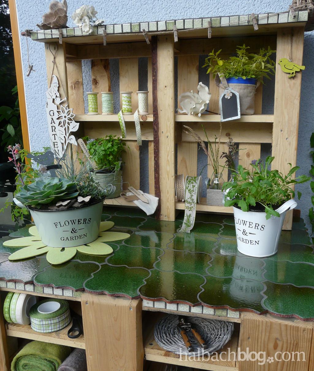 pflanztisch aus paletten, upcycling: palettenbau - halbachblog, Design ideen