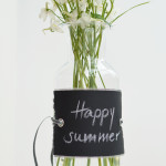 halbachblog DIY-Idee: Tafelstoff-Banderole mit Ösen und Band, Kreideschriftzug