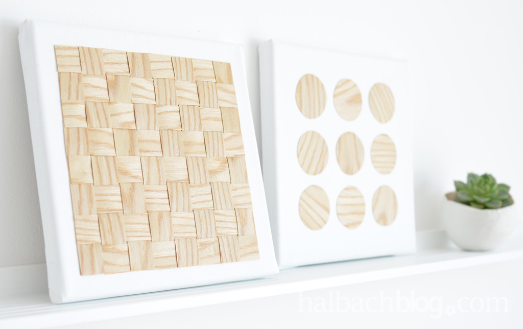 Kleine Bildergalerie mit Holzstruktur