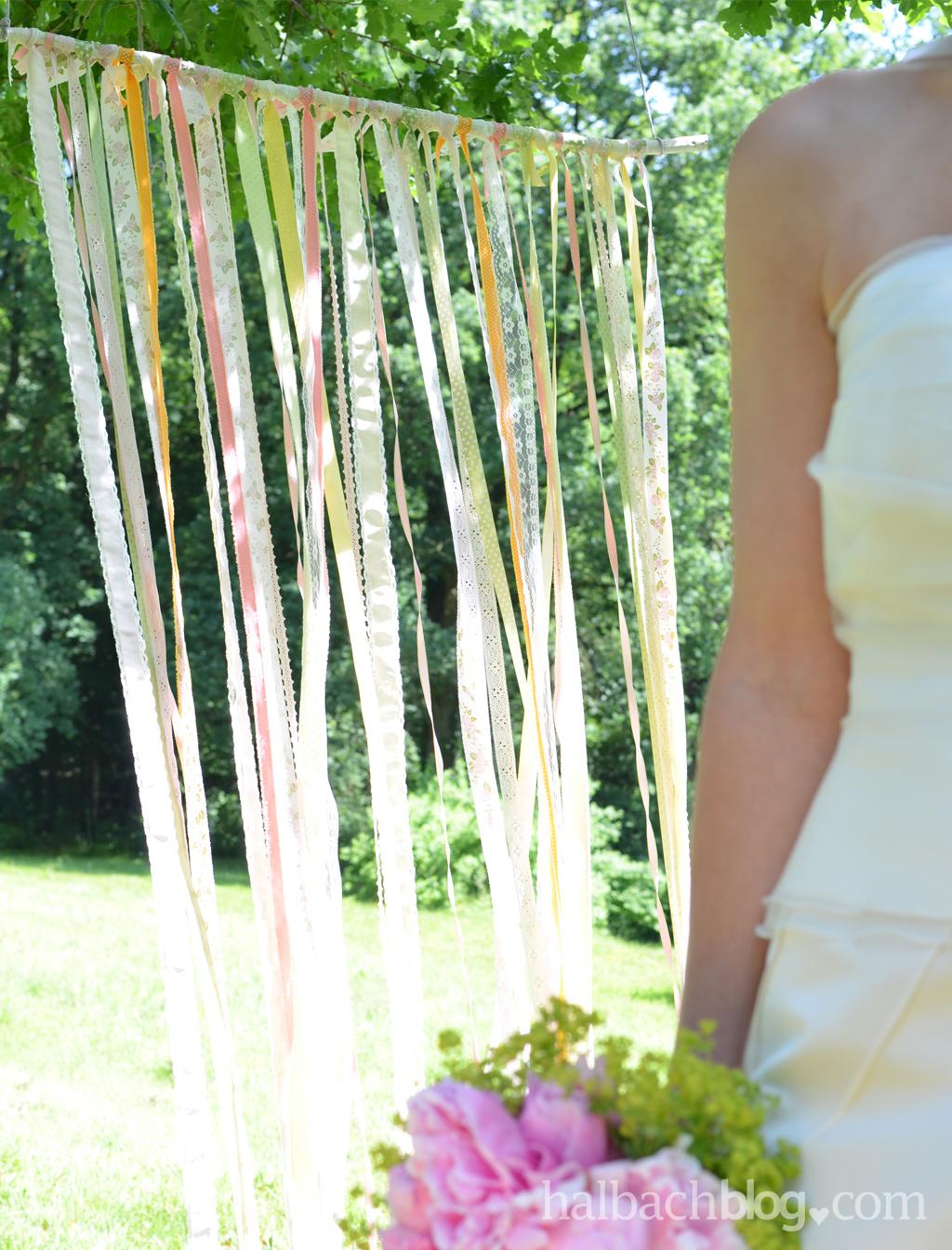 Bewegte Kulisse – Backdrop für die Hochzeit