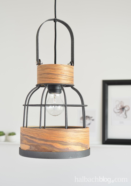 Lampendesign mit Holzstruktur