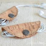 DIY-Idee halbachblog: Kabeltäschchen aus Korkstoff nähen mit Druckknopf