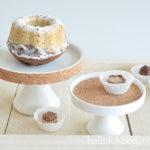 DIY-Idee halbachblog: Porzellan mit selbstklebendem Korkstoff bekleben