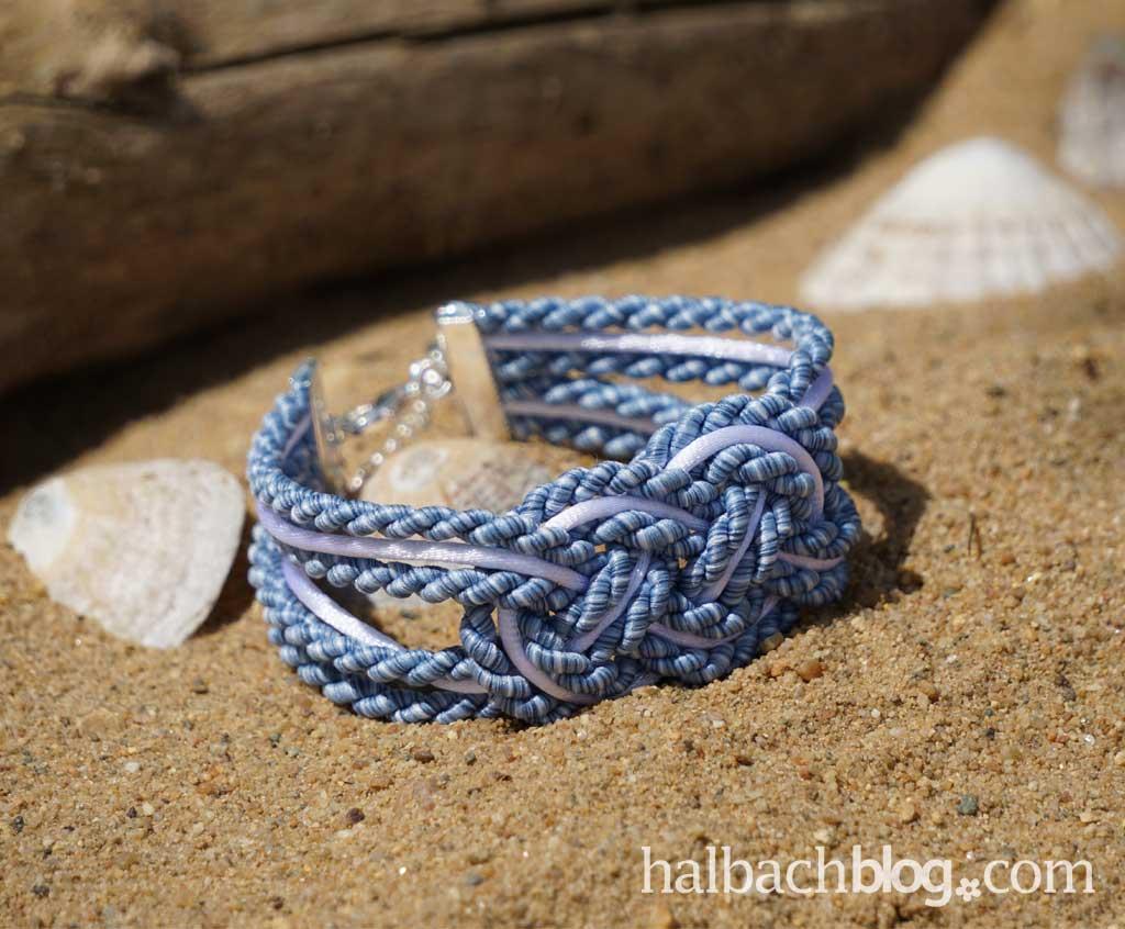 Frischer Wind mit Seemannsknoten-Armband