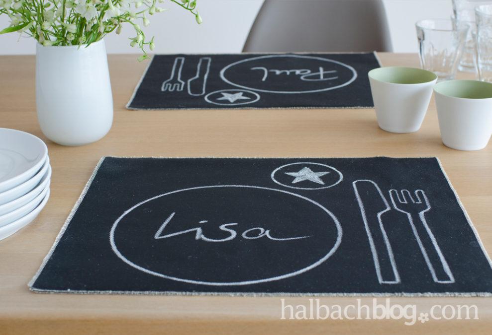 DIY-Tischset aus Tafelstoff