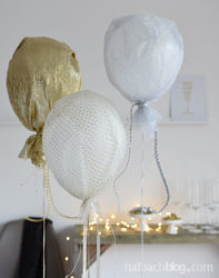 It's Partytime – mit Glitzer-Stoff-Ballons