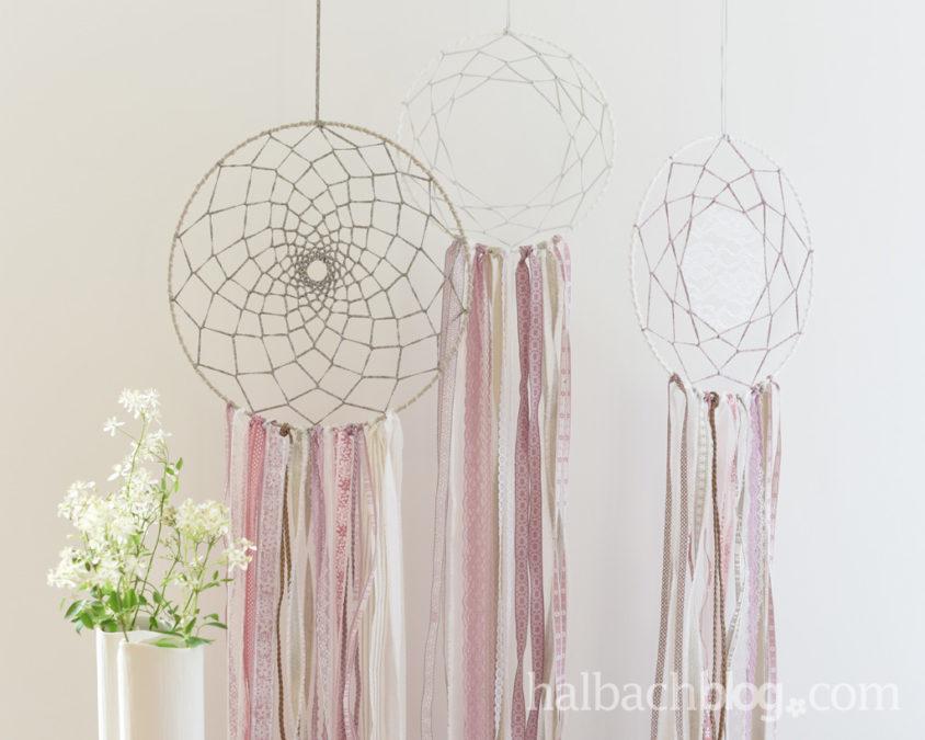Modern Romantic: Traumfänger DIY mit Bändern