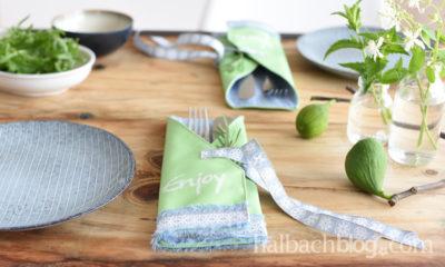 Sommerstimmung mit Tafelstoff-Bestecktaschen
