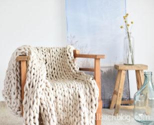 Chunky Knit: XXL-Decke mit Strickschlauch stricken