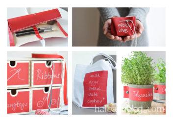 Tafelstoff-Ideen in leuchtend Rot