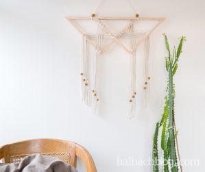 Wandbehang im Skandi-Look