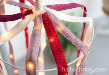 DIY-Interior: Leuchtobjekt aus Papier-Strickschlauch