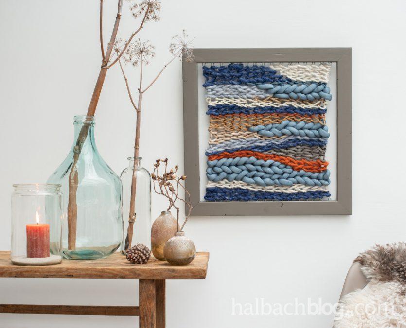 Weben mit Schnüren: DIY-Wandbehang