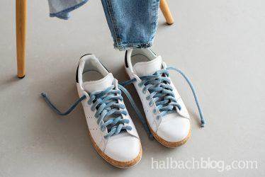 Smart und soft: kreativer Schnürsenkel-Style mit Samtschnur