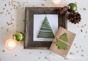 Ein persönlicher Gruß: Weihnachtskarten basteln
