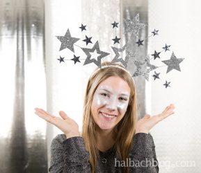 Last-Minute-Kostüm: Haarreif mit Sternenkranz