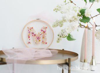 Lovely Embroidery Hoop: Tüll trifft Trockenblumen