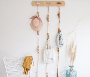 DIY-Garderobe aus recycelter Baumwollschnur
