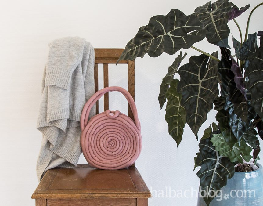 Runde Tasche aus Strickschlauch nähen