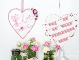 Valentinstags-Ideen mit Papierkordel und Band