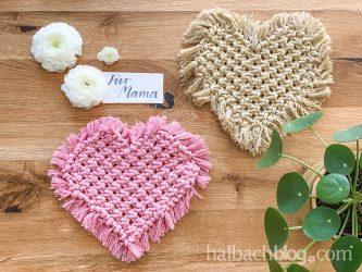 Makramee-Herz zu Muttertag