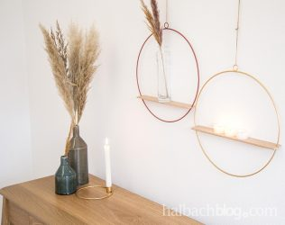 DIY: Metallringe mit Holz-Ablage